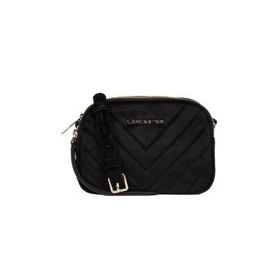LANCASTER - Actual Velvet Couture Mini Crossbody Bag - Noir