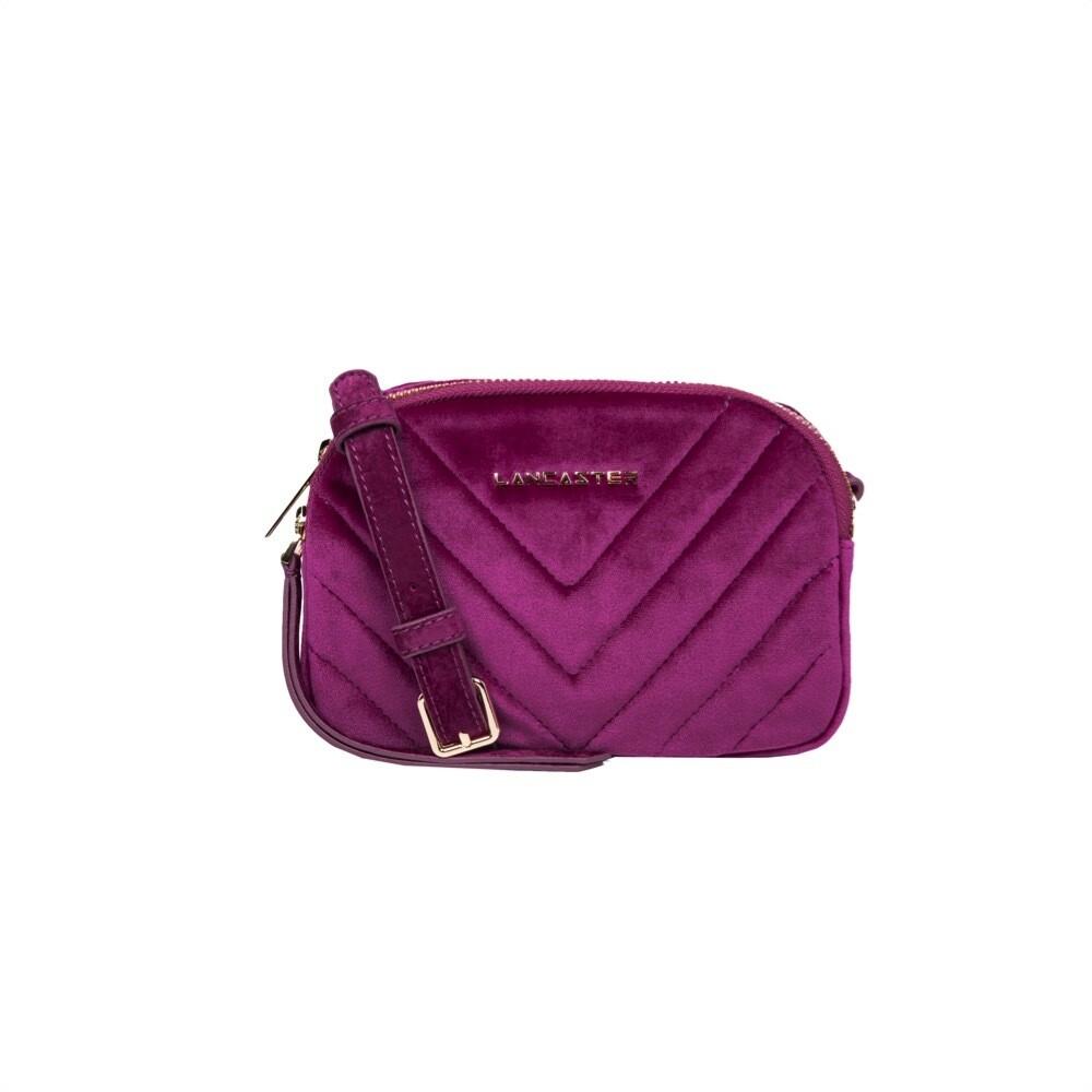 LANCASTER - Actual Velvet Couture Mini Crossbody Bag - Orchidee