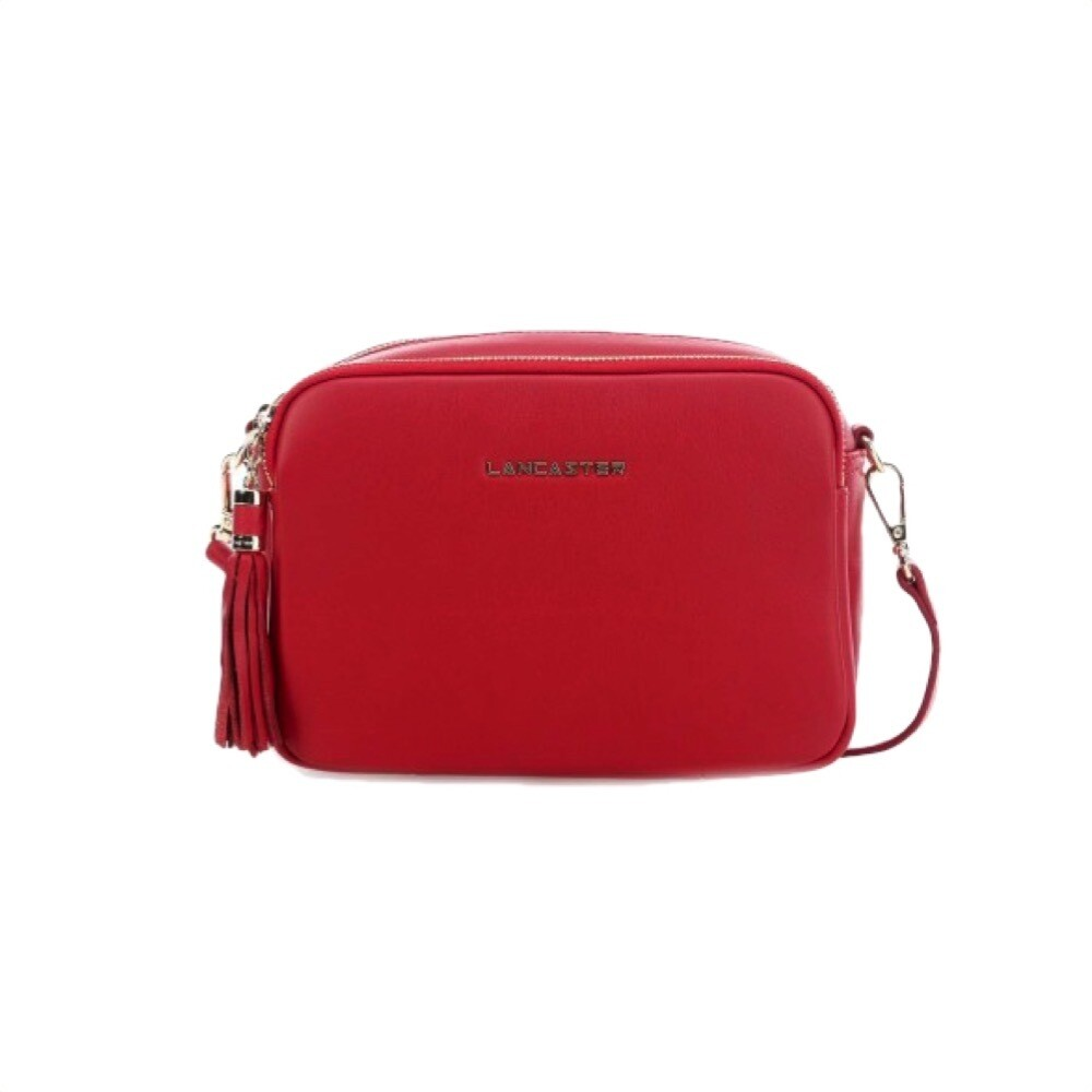 LANCASTER - Ana Small Crossbody Bag - Rouge Croco