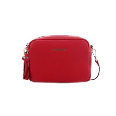 LANCASTER - Ana Small Crossbody Bag - Rouge Croco