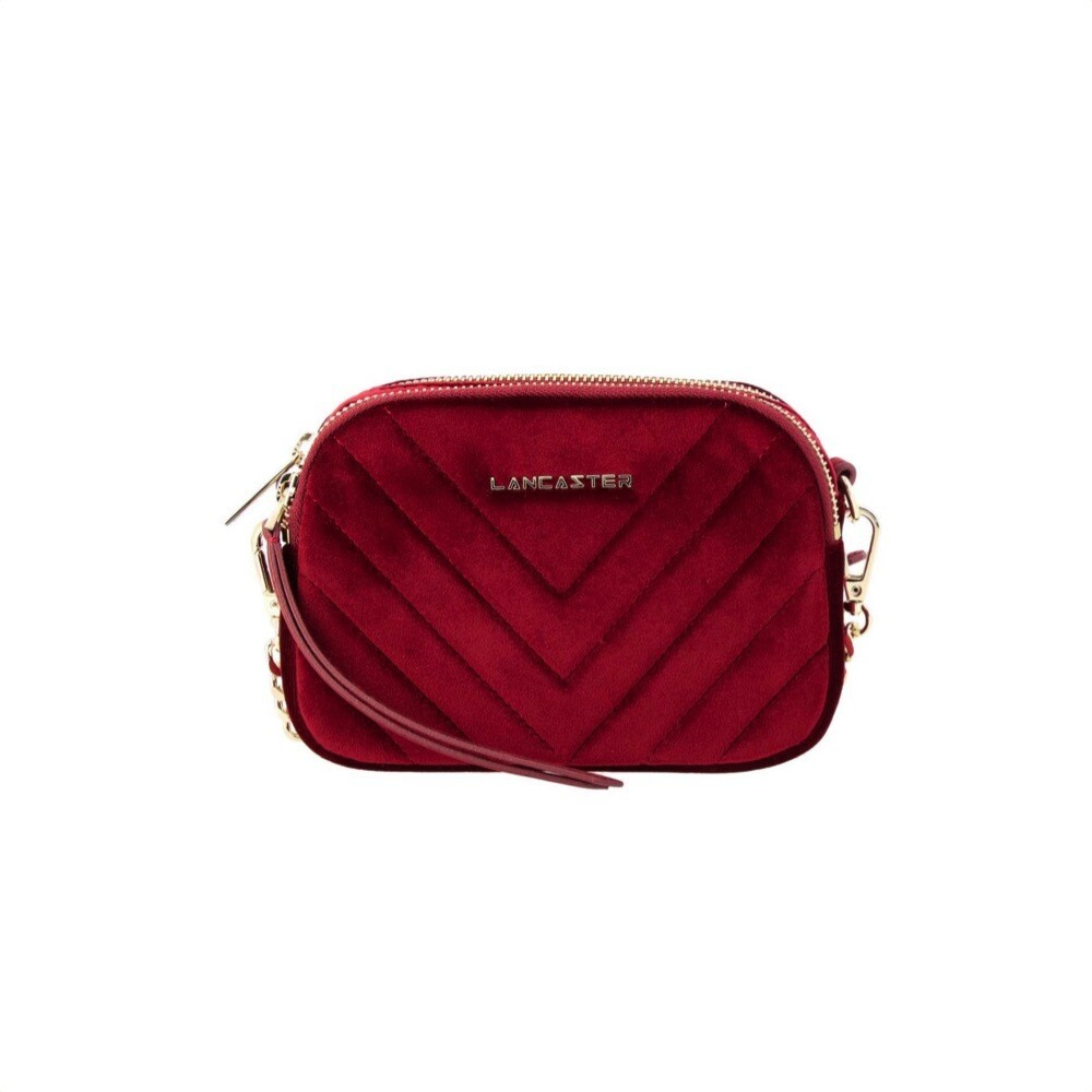 LANCASTER - Actual Velvet Couture Mini Crossbody Bag - Rouge