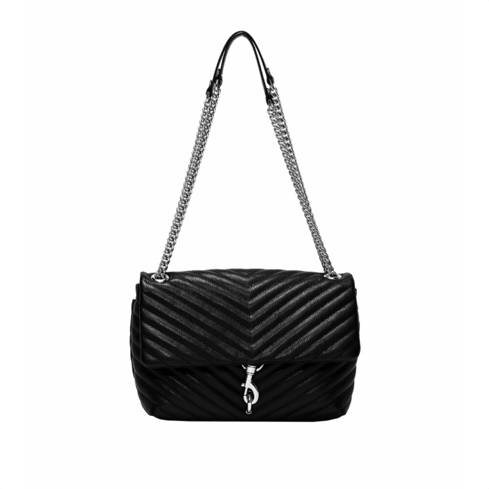 REBECCA MINKOFF - Edie Flap Shoulder Bag - Black