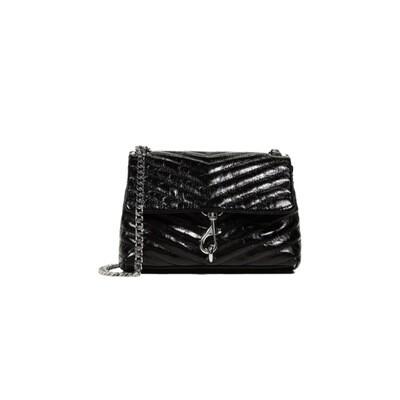 REBECCA MINKOFF - Edie Mini Crossbody Bag Naplack - Black