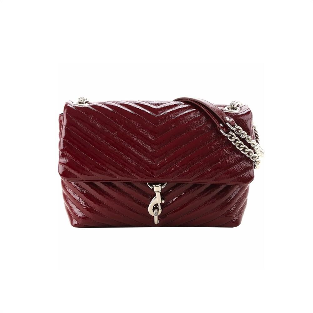 REBECCA MINKOFF - Edie Flap Shoulder Bag Naplack - Pinot Noir