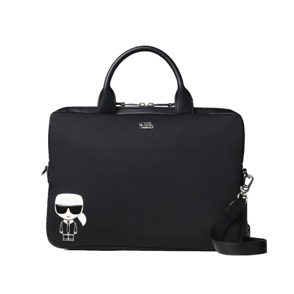 KARL LAGERFELD - K/Ikonik Laptop Sleeve W Strap - Black