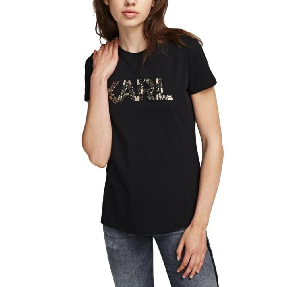 KARL LAGERFELD - T-Shirt Karl Oui - Black