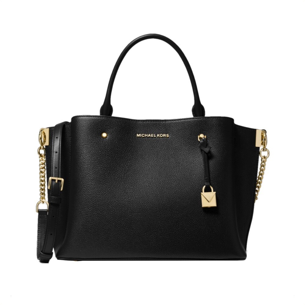 MICHAEL KORS - Arielle Large Satchel - Black