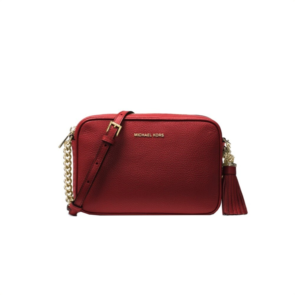 MICHAEL KORS - Tracolla Ginny in pelle - Brandy