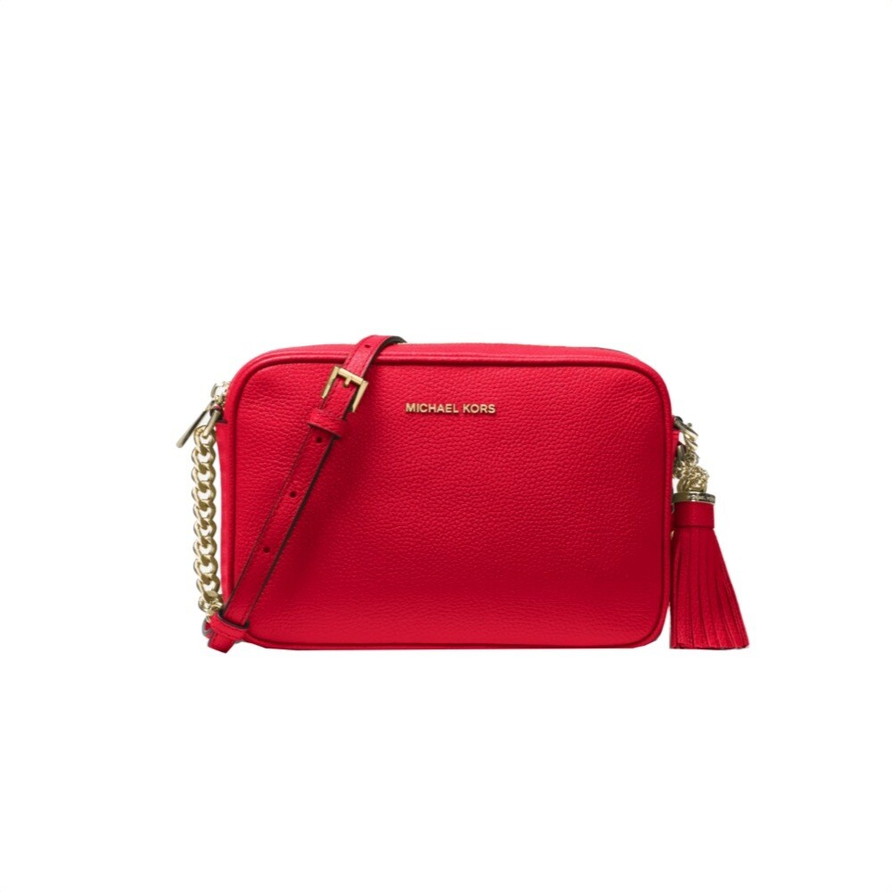 MICHAEL KORS - Tracolla Ginny in pelle - Bright Red