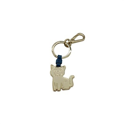 COCCINELLE - Gatto Portachiavi/Charm Basic Metal - Denim