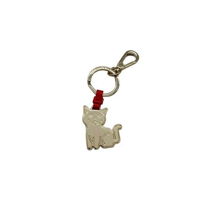 COCCINELLE - Gatto Portachiavi/Charm Basic Metal - Polish Red