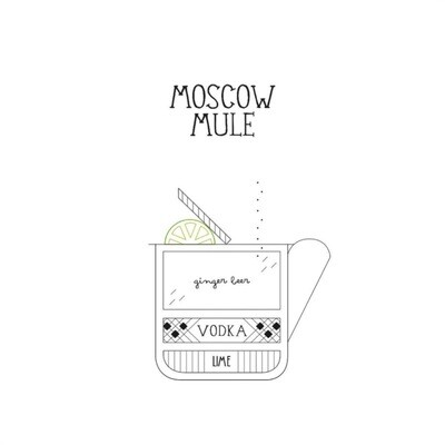 T-SHOT - T-shirt Moscow Mule - White