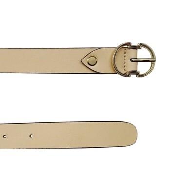 COCCINELLE - Cintura Double C in pelle - Nude