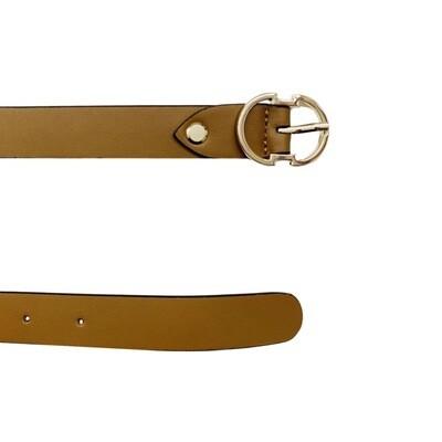 COCCINELLE - Cintura Double C in pelle - Tobacco