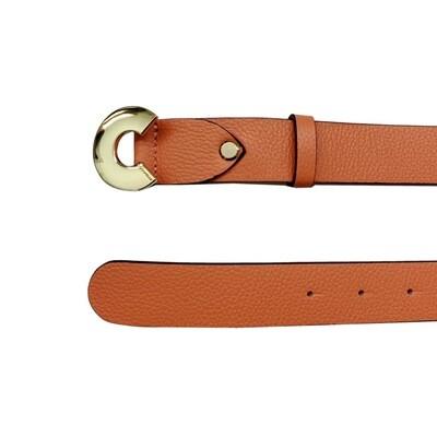 COCCINELLE - Cintura Logo C in pelle - Peach