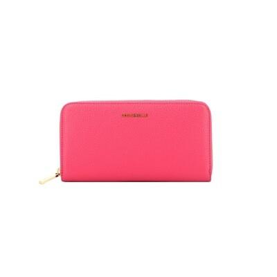 COCCINELLE - Metallic Soft Portafoglio Grande - Glossy Pink