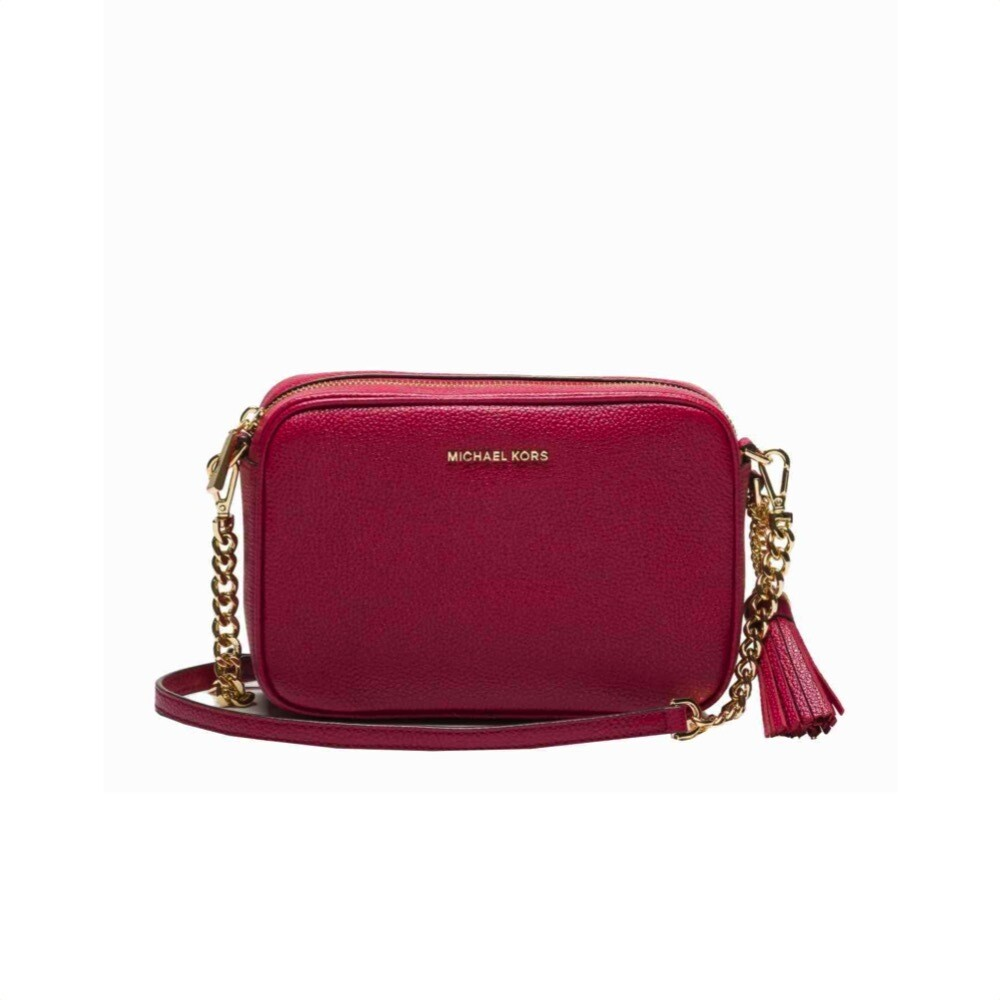 MICHAEL KORS - Tracolla Ginny in pelle - Berry