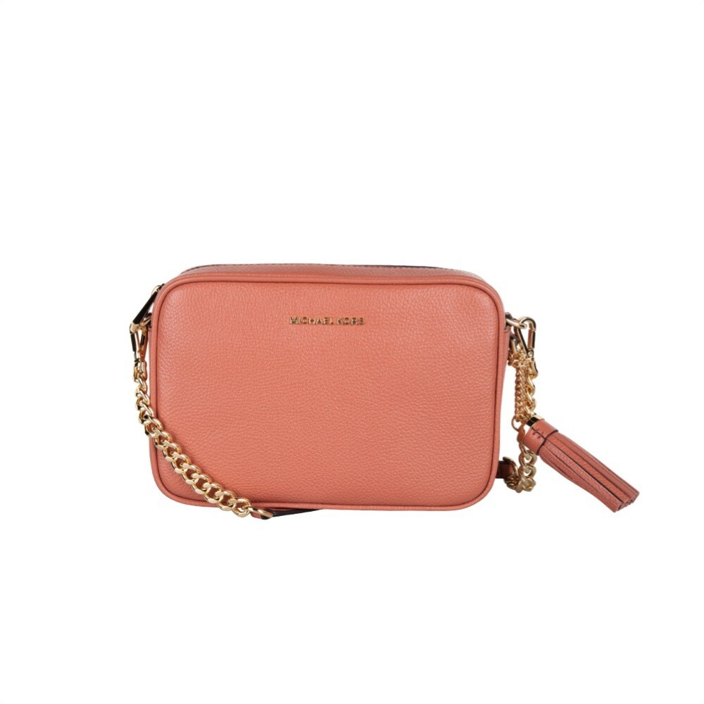 MICHAEL KORS - Tracolla Ginny in pelle - Sunset Peach