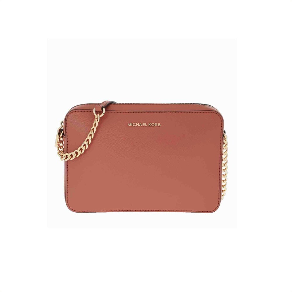 MICHAEL KORS - Tracolla Jet Set in pelle saffiano - Sunset Peach