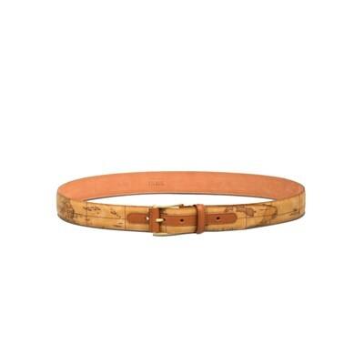 ALVIERO MARTINI - Geo Classic Cintura con fibbia metallica - Natural