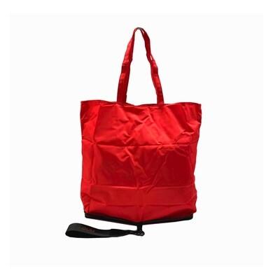 GUM - Borsa Shopping pieghevole - Nero/Rosso