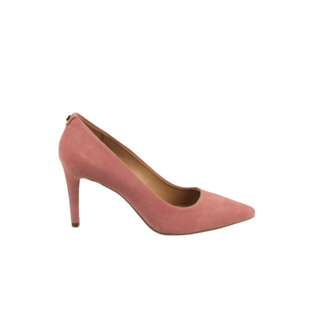 MICHAEL KORS - Dorothy Decollete in suede - Sunset Peach