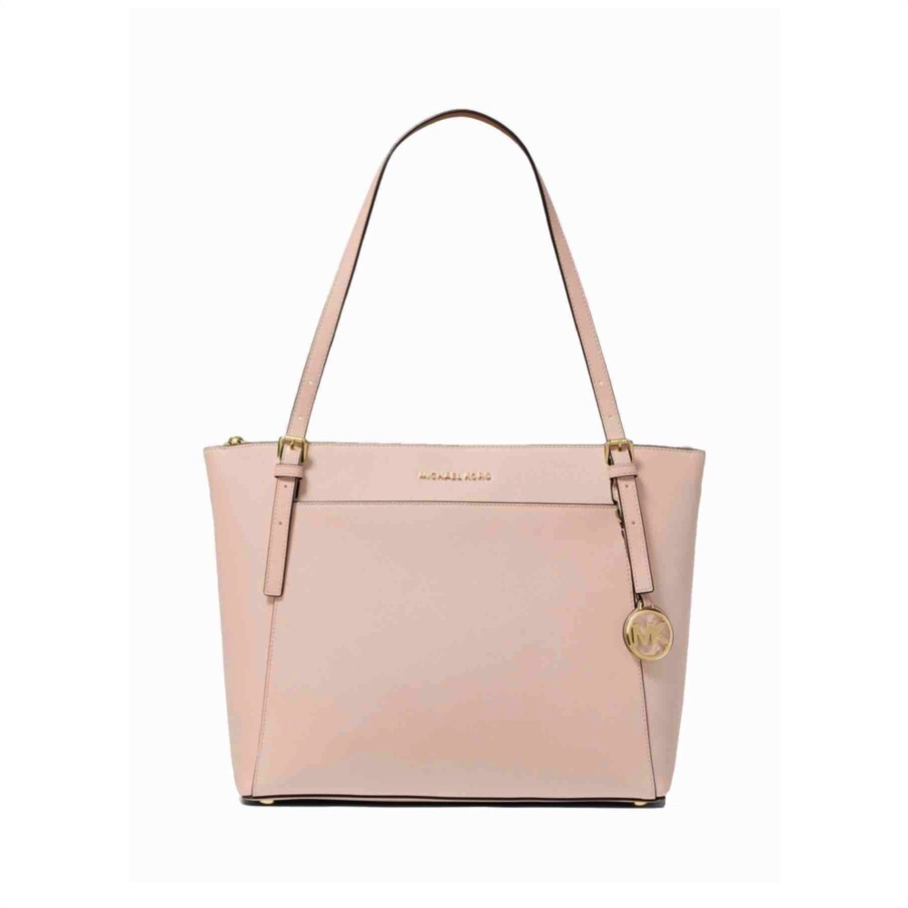 MICHAEL KORS - Voyager Large Leather Tote - Soft Pink