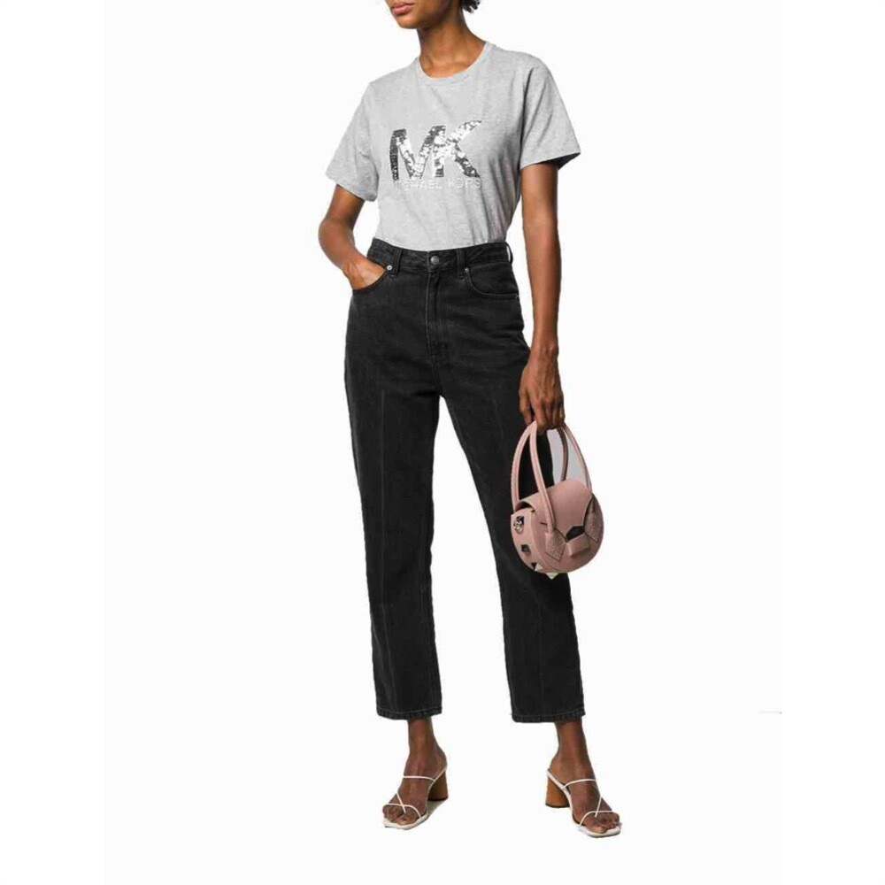 MICHAEL KORS - T-shirt MK paillettes - Peral Heather