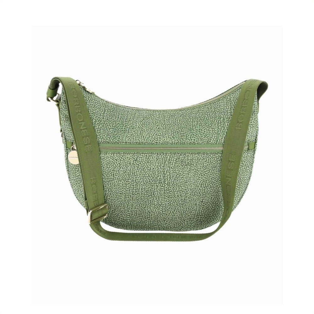 BORBONESE - Luna Bag Middle in Nylon Jet OP - Military Green