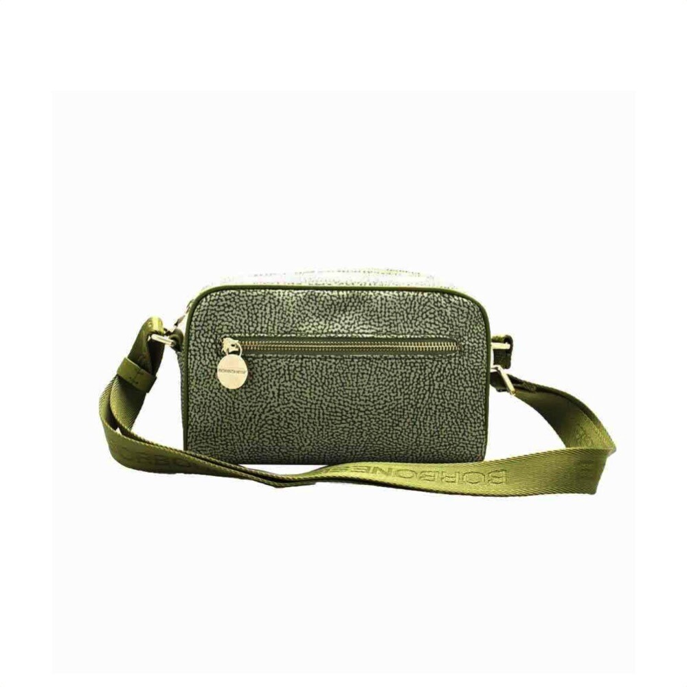 BORBONESE - Tracolla Small in Nylon Jet OP - Military Green
