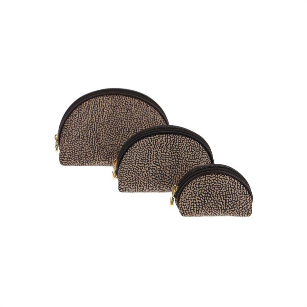BORBONESE - Set Beauty Case in Nylon Jet Cuoio - OP Natural/Brown