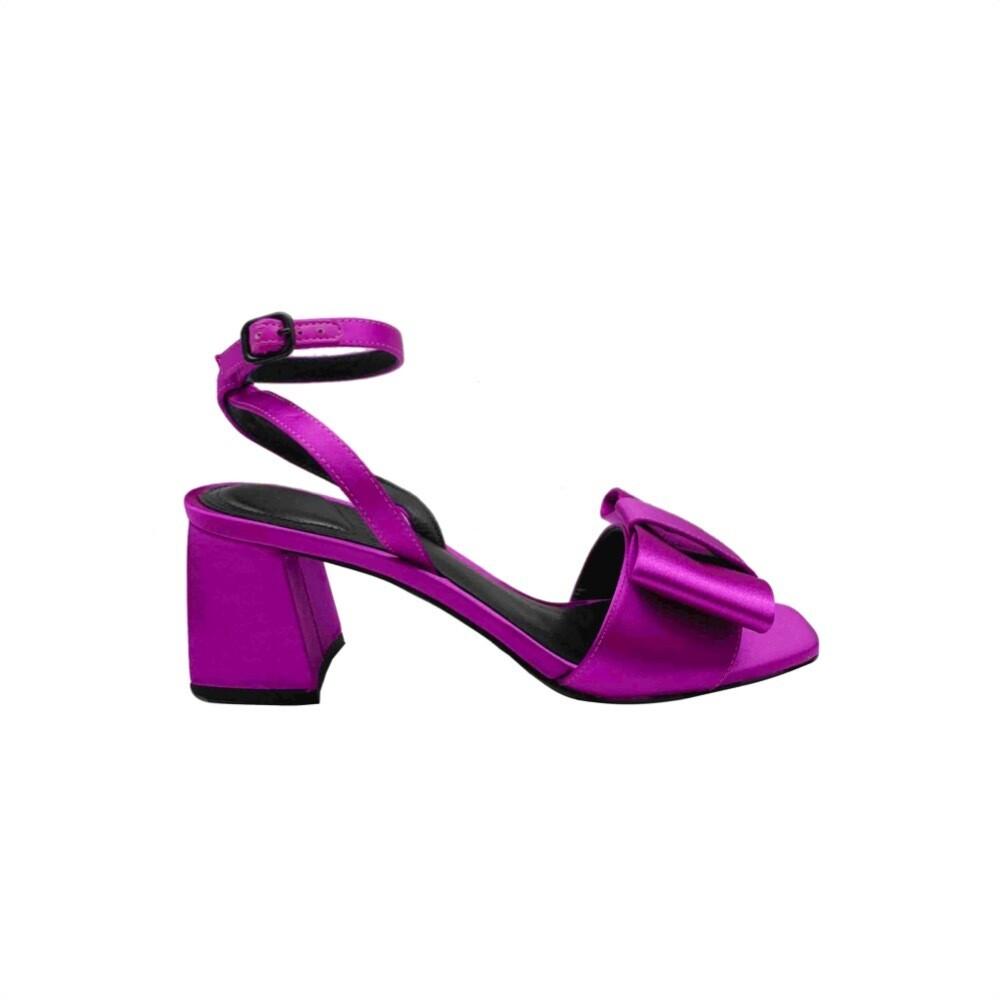 WHAT FOR - Matina sandalo con fiocco - Fuchsia