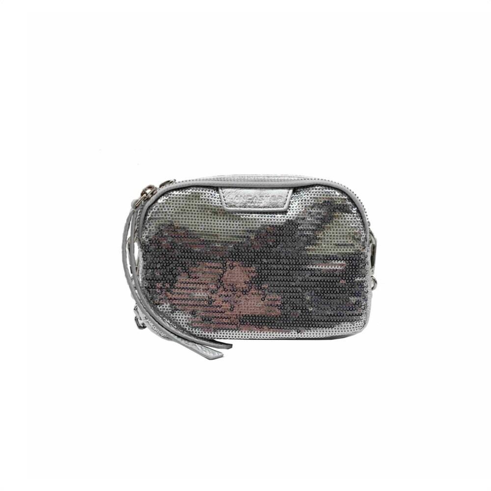LANCASTER - Actual Shiny Sequin Mini Tracolla/Marsupio - Argent