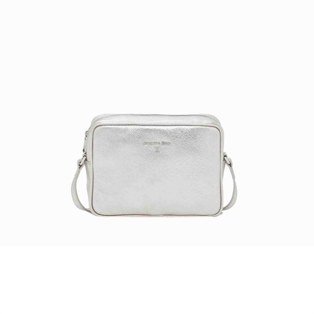 PATRIZIA PEPE - Camera Bag in pelle - Silver