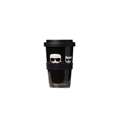 KARL LAGERFELD - K/Ikonik tazza da viaggio - Black