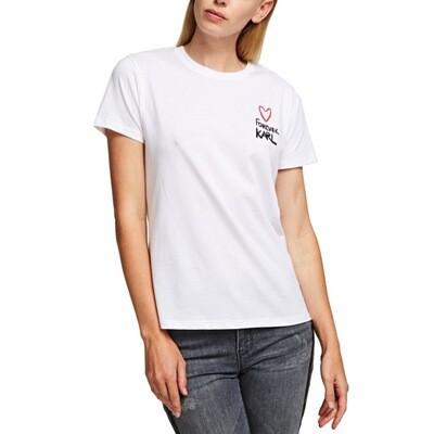 KARL LAGERFELD - T-shirt Forever Karl - White