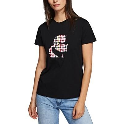 KARL LAGERFELD - T-shirt Karl Kameo Bouclè - Black