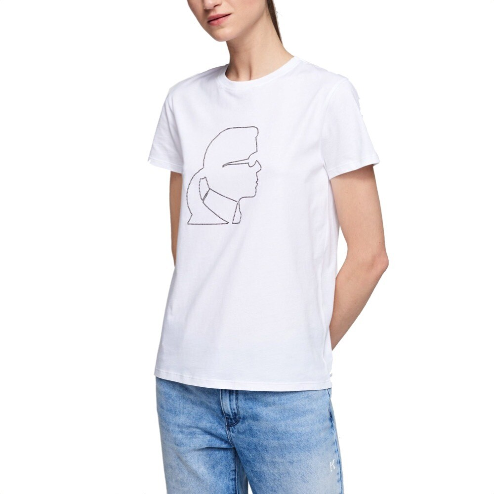 KARL LAGERFELD - T-Shirt Karl Kameo - White