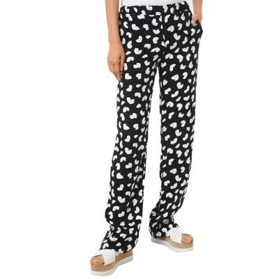 MICHAEL KORS - Pantaloni in viscosa con motivo petali - Black