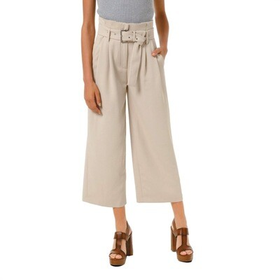 MICHAEL KORS - Pantalone in crêpe con cintura - Dune
