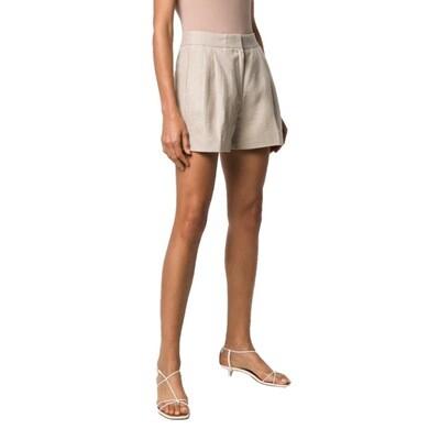 MICHAEL KORS - Short in lino con pieghe - Hemp