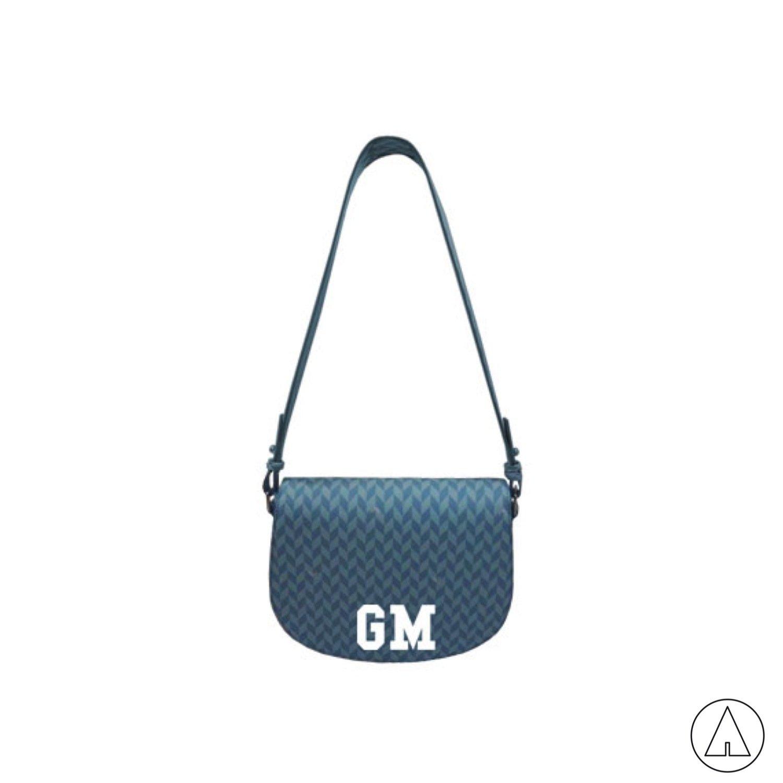 MIA BAG • Bisacca Monogram Personalizzabile - Azzurro