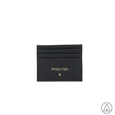 PATRIZIA PEPE • Porta tessere in pelle lavorazione saffiano - Nero