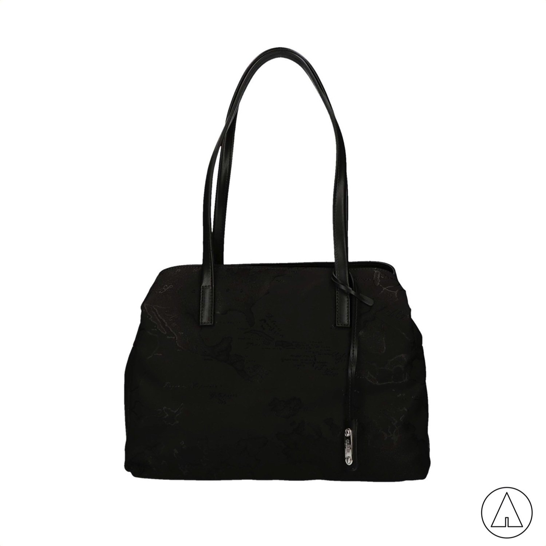 ALVIERO MARTINI - Nylon Map Shopping 3 tasche - Black