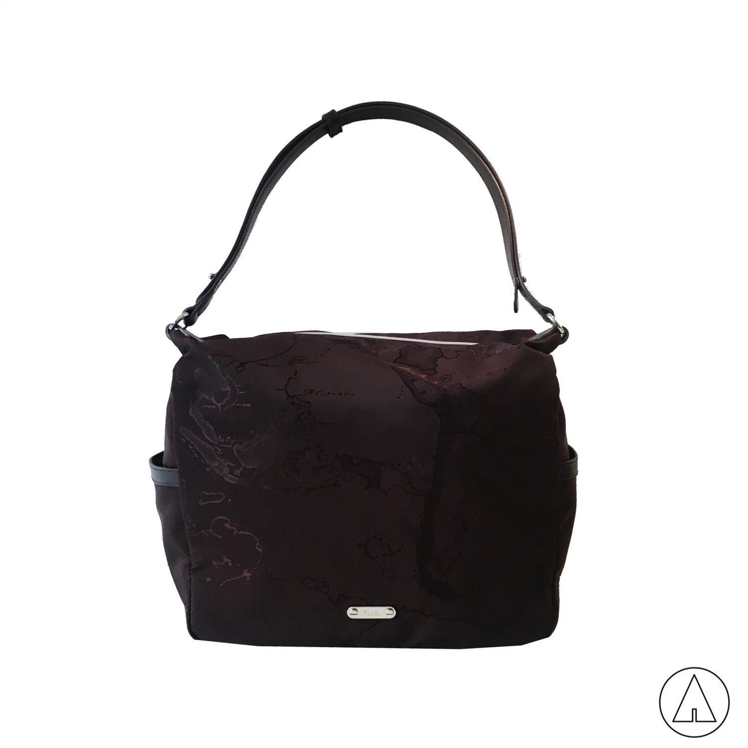 ALVIERO MARTINI - Nylon Map Sottospalla hobo media - Chocolat