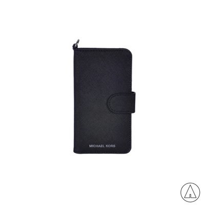 MICHAEL KORS • Leather Phone Case For iPhone 7 - Black