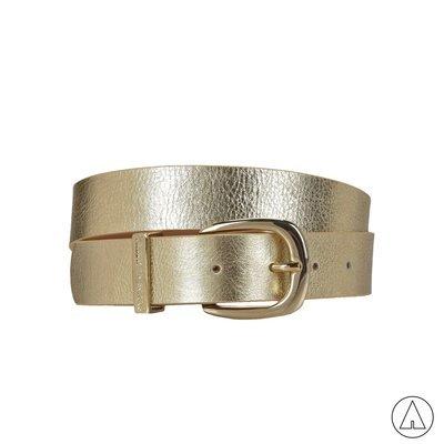 TRUSSARDI JEANS - Cintura effetto laminato - Oro