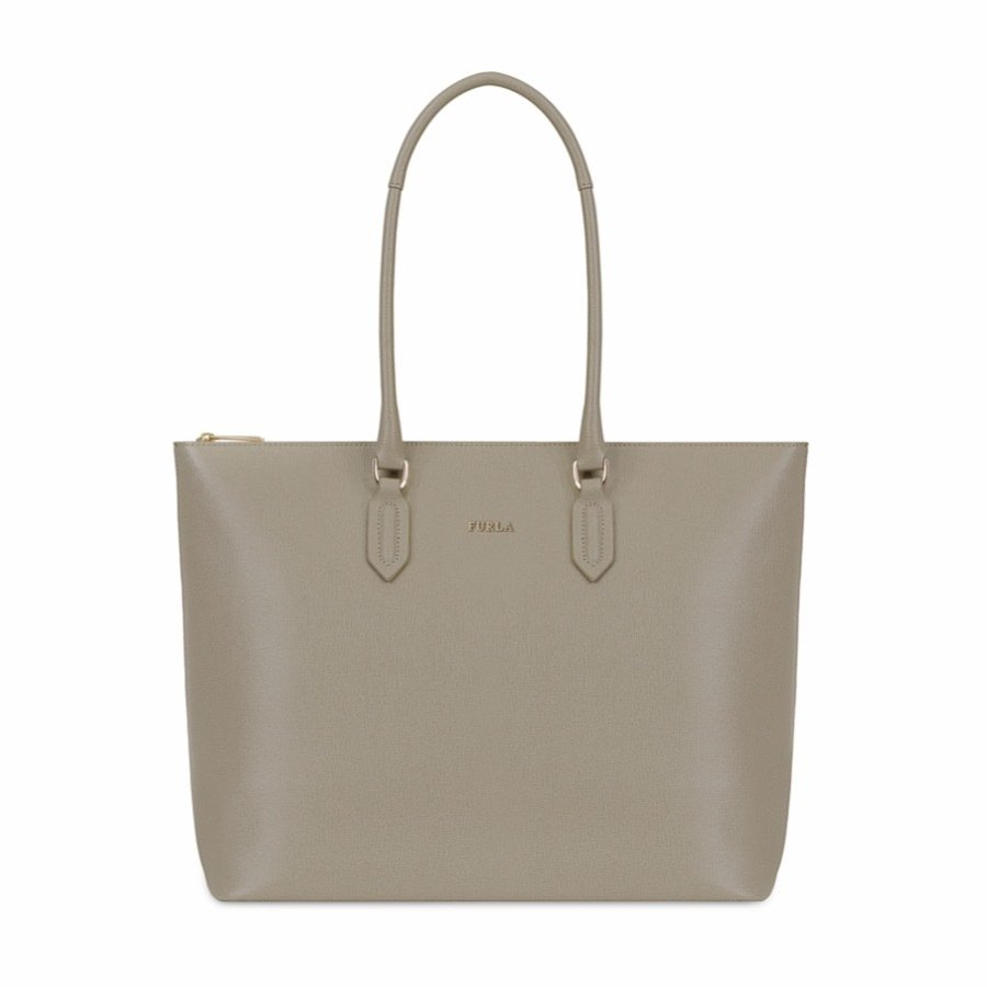 FURLA • Pin M Tote Shopping - Sabbia