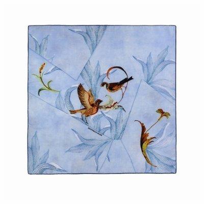 BORBONESE - Foulard origami 70x70 - Mar