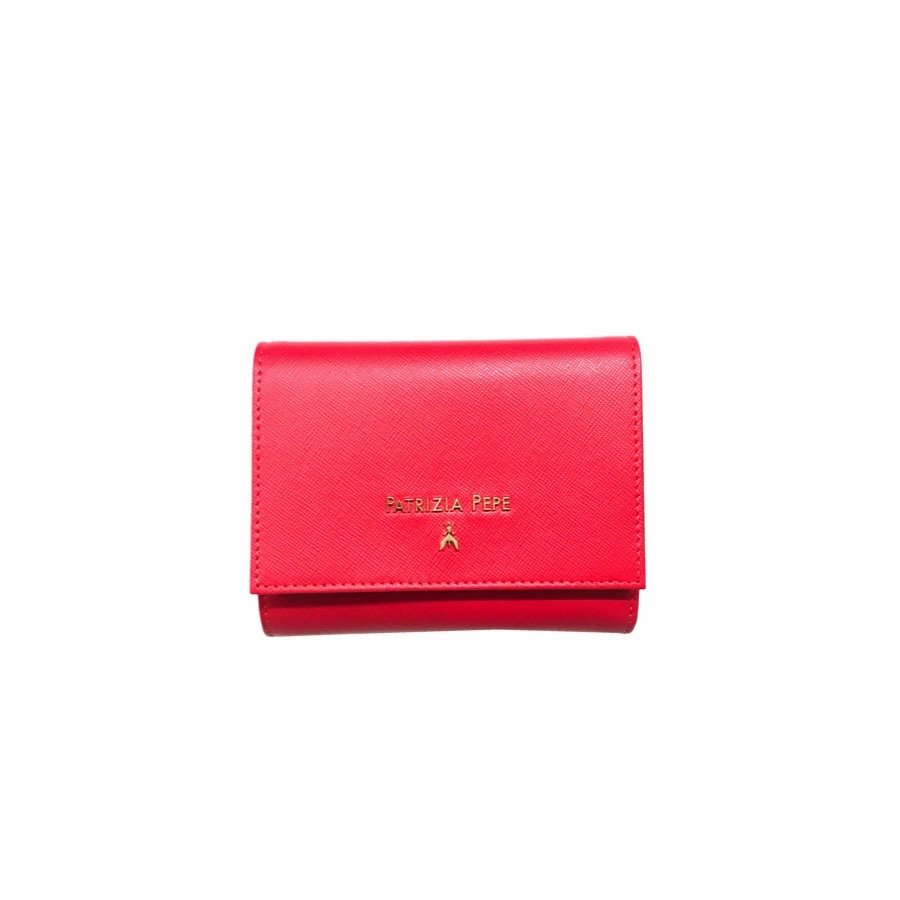 PATRIZIA PEPE • Portafoglio con portamonete - Vivid Red